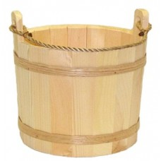 Large Unstained Pine Bucket