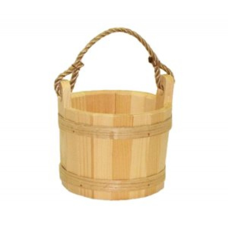 Small unstained pine bucket for Small pail buckets