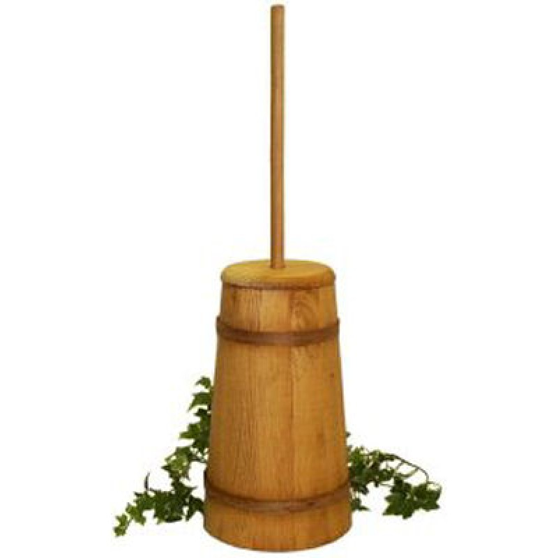large stained butter churn   amishcraft