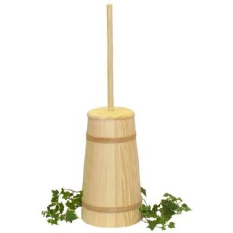 large unstained butter churn   amishcraft