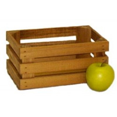 Mini Stained Apple Crate - Half Peck