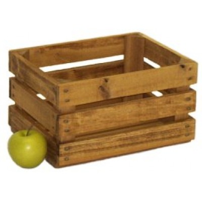 Small Stained Apple Crate - Peck