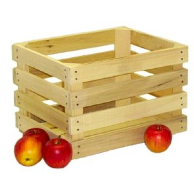 Medium Unstained Apple Crate - Half Bushel