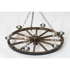Chandelier - Dk Walnut - Antique Brass - 32